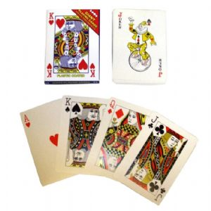 24 x Packs Giant Playing Cards - Plastic Coated 17cm x 12cm Wholesale Bulk Buy